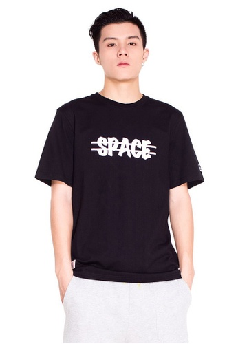 Reoparudo black RPD Reflective Cross Space Print Tee (Black) RE413AA0F4BCSG_1