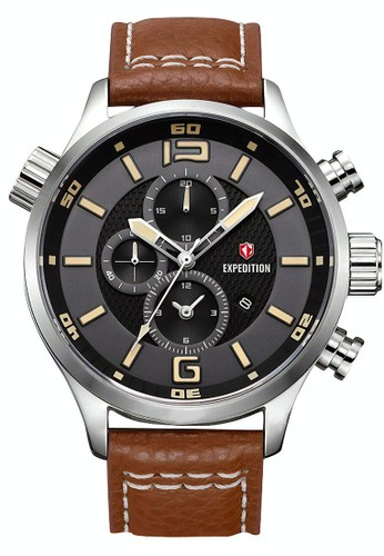 Expedition brown Expedition Jam Tangan Pria - Brown Silver Black - Leather Strap - 6768 MCLSSBAIV 29B0EACC79B995GS_1