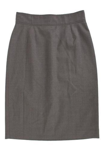 STELLA MCCARTNEY grey Pre-Loved Grey Wool Knee-Length Stella McCartney Pencil Skirt 444E7AA8413FBDGS_1