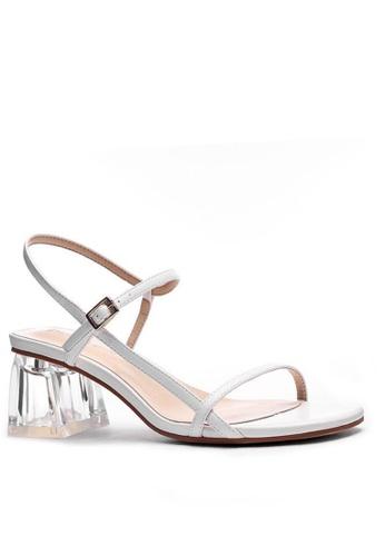 Twenty Eight Shoes 水晶踭橫帶涼鞋1801-6 63784SHFF8E539GS_1