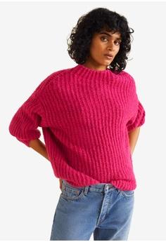 dade98fcf67 MANGO pink Chunky-Knit Sweater D380CAA4B9C3C4GS 1