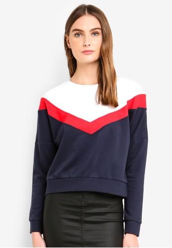ONLY navy Gigi L/S Block Batwing Sweater C9A77AA88D3644GS_1