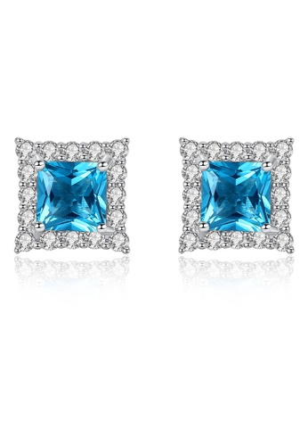 SUNRAIS silver High quality Silver S925 silver simple design earrings 6E93FACA9CB9E2GS_1