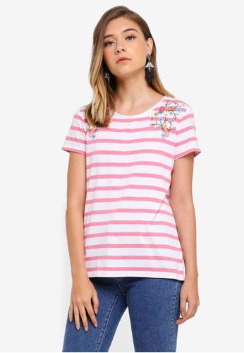 ESPRIT white Short Sleeve T-Shirt A2D6EAA19BF997GS_1