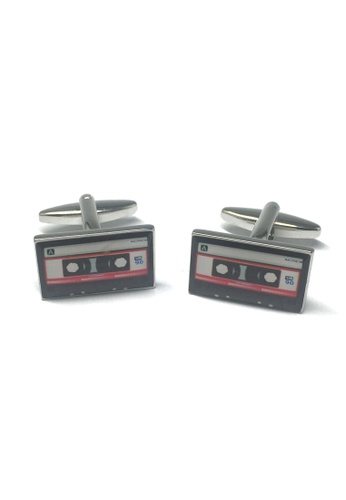 Splice Cufflinks Retro Style Red Tape Cassette Cufflinks SP744AC13ACCSG_1