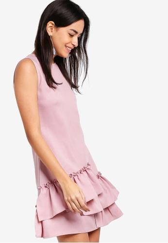 ZALORA pink Ruffle Hem A-Line Dress A27FCAA31AF741GS_1