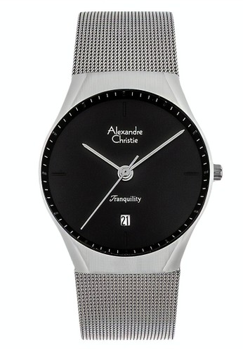 Alexandre Christie silver Alexandre Christie Jam Tangan Pria - Silver Black - Tali Pasir - 8571 MDBSSBA 768B8ACF99C096GS_1