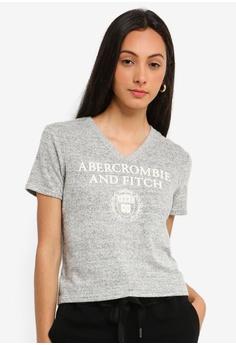 b0ffed3f2 Abercrombie & Fitch grey Cosy Logo T-Shirt DC2DEAA4F18C56GS_1