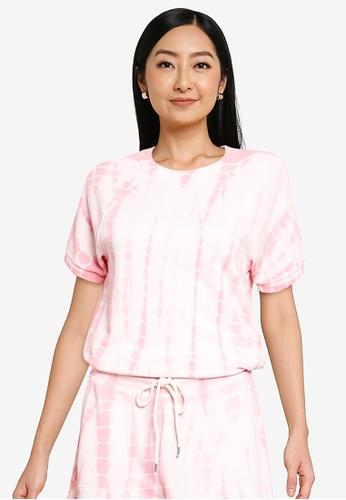 GAP pink Raglan Short Sleeve Crewneck Sweatshirt 8B669AAB5E11F2GS_1