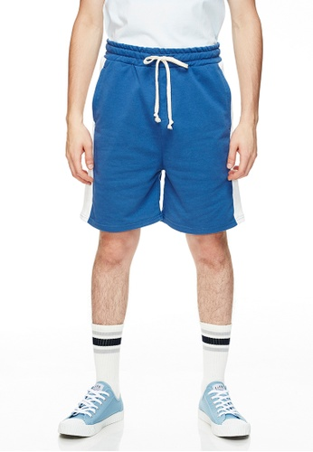 Life8 藍色 Casual Mixed Cotton Shorts-02494-Blue 8F25BAAFDBB81AGS_1