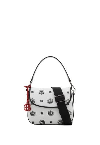 BONIA black Black Ariel Sling Bag with Twin Lion Shield Motif A8368AC53D297DGS_1