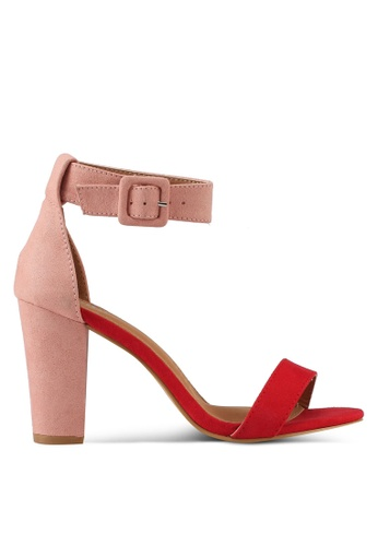 Rubi red and pink San Sebastian Heels 4A101SH6A77AC3GS_1