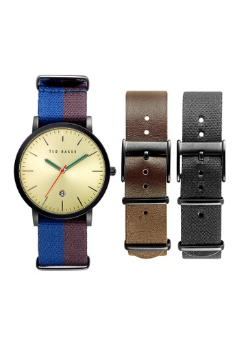 TED BAKER black Ted Baker Men's 10026451 Smart Casual Analog Watch  Box Set 628A7AC1546A22GS_1