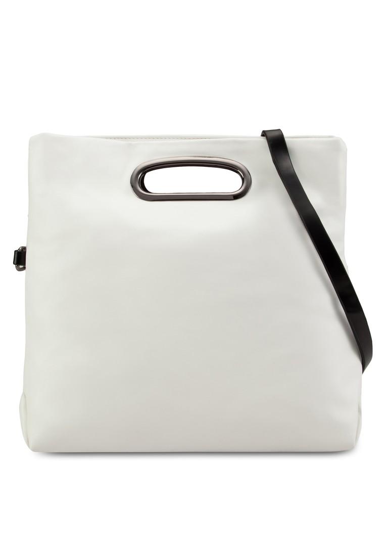 Foldown Metal Handles Sling Bag