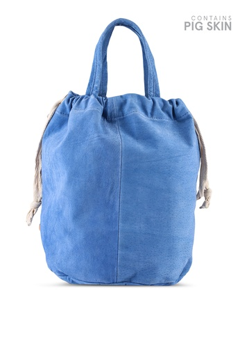 niko and ... blue Leather Tote Bag BC56FAC97D49FCGS_1