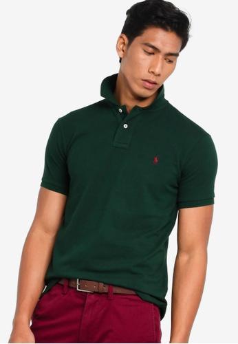 b6ba07d916 Polo Ralph Lauren green Custom Slim Fit Basic Mesh Polo Shirt  D7A2CAA026EDEDGS_1