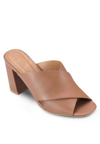 Forrester 交叉寬帶露趾Mulesprit 台北e 涼鞋, 女鞋, 鞋