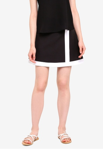Something Borrowed black Colorblock Wrap Skirt ACD9BAA8EE6776GS_1