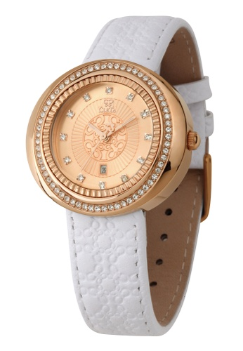 CLETA white and gold Cub Eye Watch CL733AC98FTHPH_1
