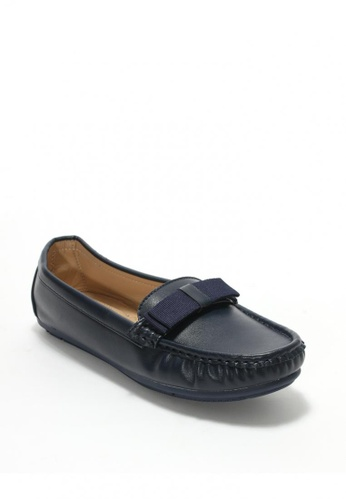 7soles navy Emmaline Ladies Loafer Shoes CED6ASH9829A5BGS_1