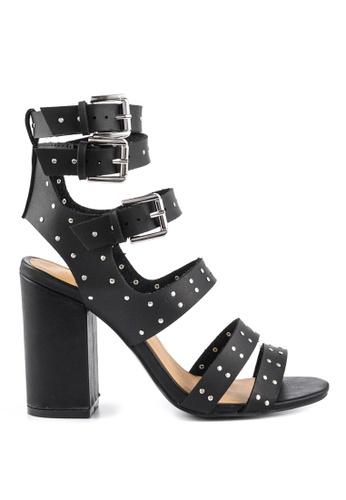 London Rag black Black Multi Buckle Strap Block Heels A1C13SHFCB37D5GS_1