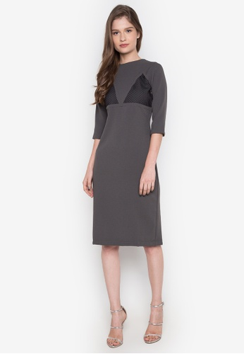 NEW ESSENTIALS grey Dennis Lustico Cocktail Dress NE239AA0JD1OPH_1