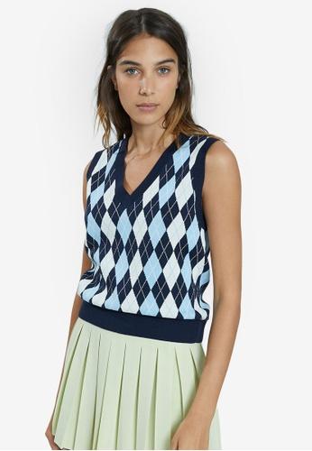 PIMKIE blue Standard Sweater Vest E0792AAF35DF95GS_1