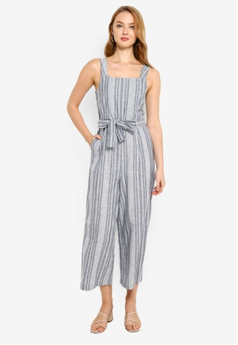 ONLY navy Canyon Strap Crop Jumpsuit 0D46BAA6ACFC86GS_1