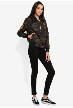 4f09a6a6d0b 43% OFF Superdry Delta Bomber Jacket S$ 189.00 NOW S$ 106.90 Sizes 8 10 12  14 16 · Guess black Embroidered Logo Hooded Long Down Jacket  4A9E9AAD3B27E1GS_1