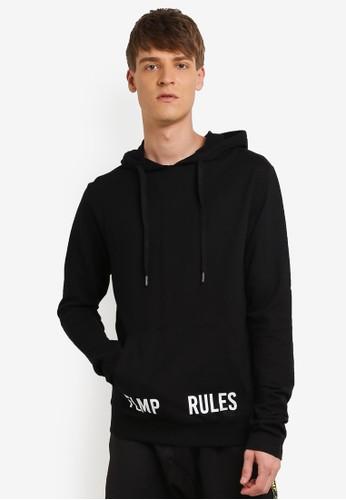 Flesh IMP black Over Rules Oversized Hoodie FL064AA0RNACMY_1