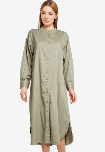 LOWRYS FARM green Casual Shirt Dress 54C6FAAA4B910EGS_1