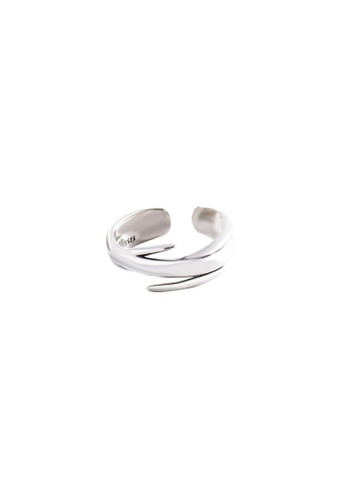 OrBeing white Premium S925 Sliver Geometric Ring 9989BACE48E21FGS_1