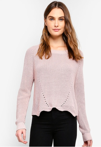 OVS pink Knitted Pullover With Wavy Hemline E1407AAFDD2467GS_1