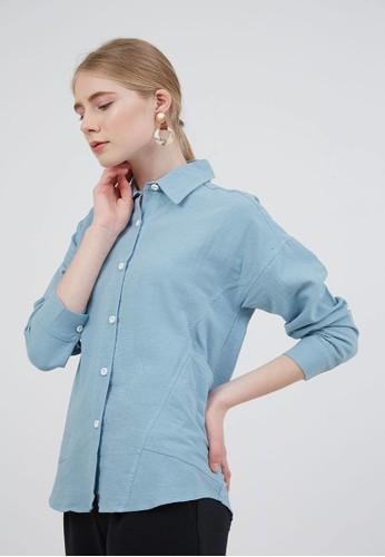 Berrybenka Label blue Sophie Herby Longsleeve Shirt Blue BF819AAE17B971GS_1
