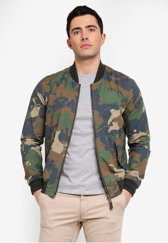 912b3b6c7 Cotton Camo-Print Bomber Jacket