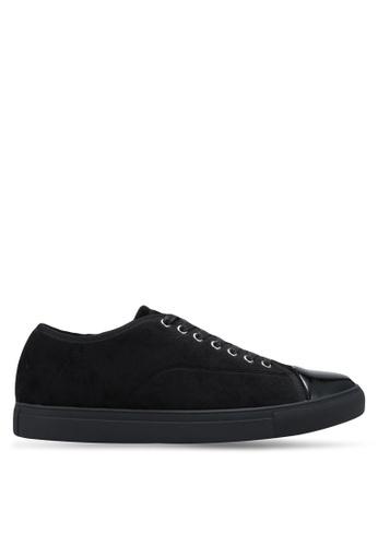 ZALORA black Velvet Laced Up Sneakers 1A27ESH2792FE1GS_1