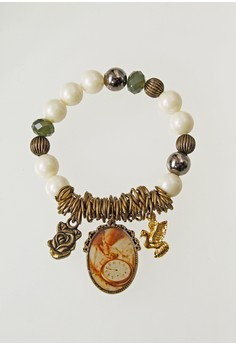 WLB005 Women's Bracelet with Watch and Aves Charm