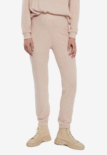 Vero Moda beige Tia High Waisted Trousers AB618AA31F9AF6GS_1