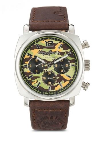 R2351111001 Howard 迷彩皮革圓錶, 錶esprit 童裝類, 飾品配件