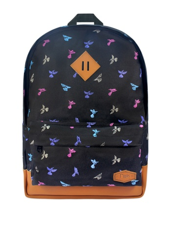 Ripples black Hummingbirds Backpack RI425AC0FM24SG_1