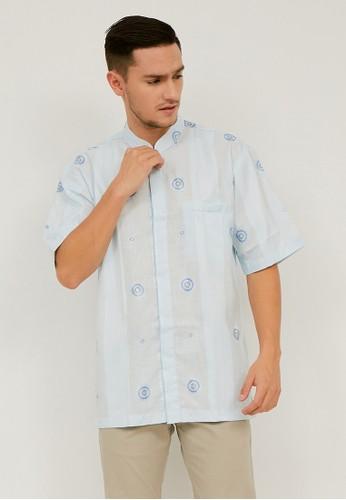 Woffi blue Baqa Koko Shirt 028C3AA65E0BC9GS_1