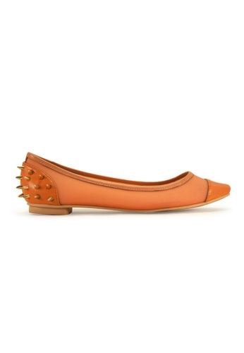 Gripz orange Poke Pointy Toe Spiky Flats GR357SH12IQTSG_1