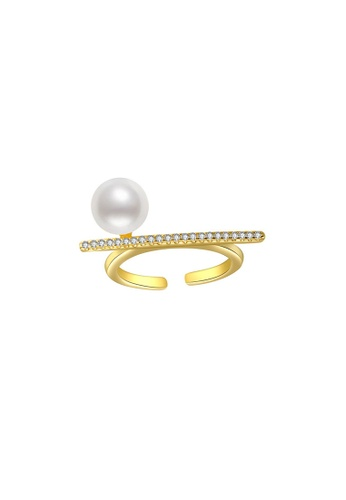 Pearly Lustre gold Pearly Lustre New Yorker Freshwater Pearl Ring WR00065 B32CDACE66A455GS_1