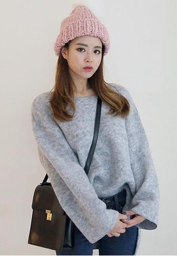 寬袖羊毛針織上衣esprit 京站, 服飾, 上衣