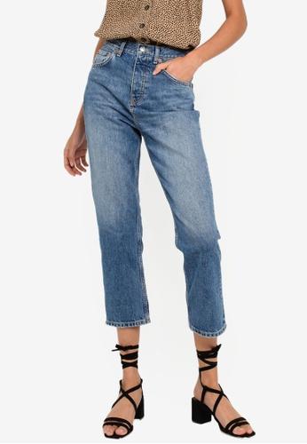 TOPSHOP blue Mid Blue Editor Jeans 7350DAA836A338GS_1