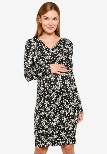 Mama.licious black Maternity Tammi Dress FE906AA1A3C9F7GS_1