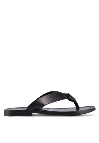 KG Kurt Geiger black Thar Leather Slippers CB673SH9835440GS_1