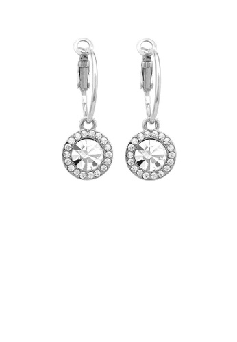 Glamorousky silver Dazzling Round Earrings with Silver Austrian Element Crystal FDA81AC9A37CB2GS_1