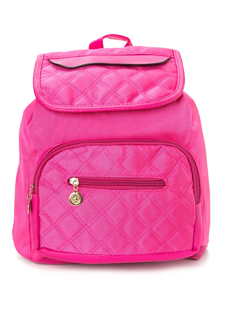 Drawstring Backpack Quilted Design