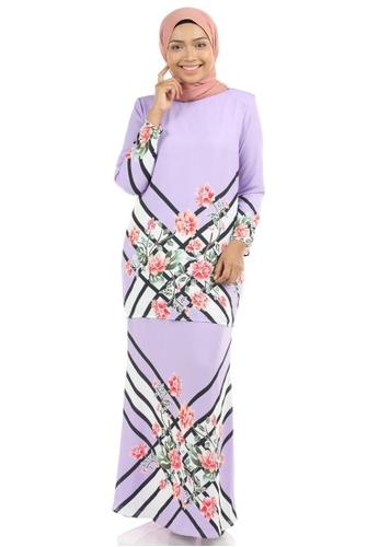 Ashura purple Qisty Kurung with Batik Motifs 37597AAF828320GS_1